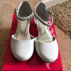 Nina Girl's White Dress Shoes Size 13 M